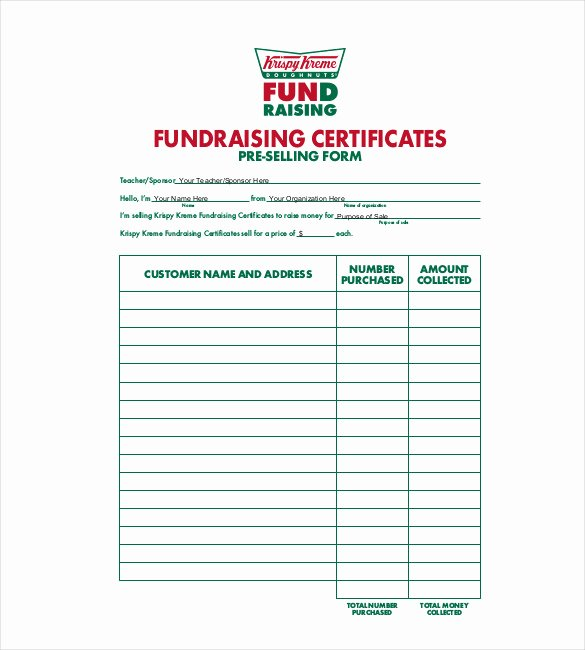 Fundraiser order form Template Free Unique 20 order Template Word Excel Pdf