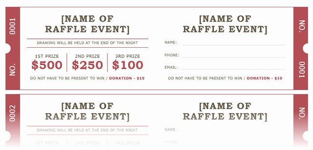 Fundraiser Ticket Template Free Best Of How to Get A Free Raffle Ticket Template for Microsoft Word