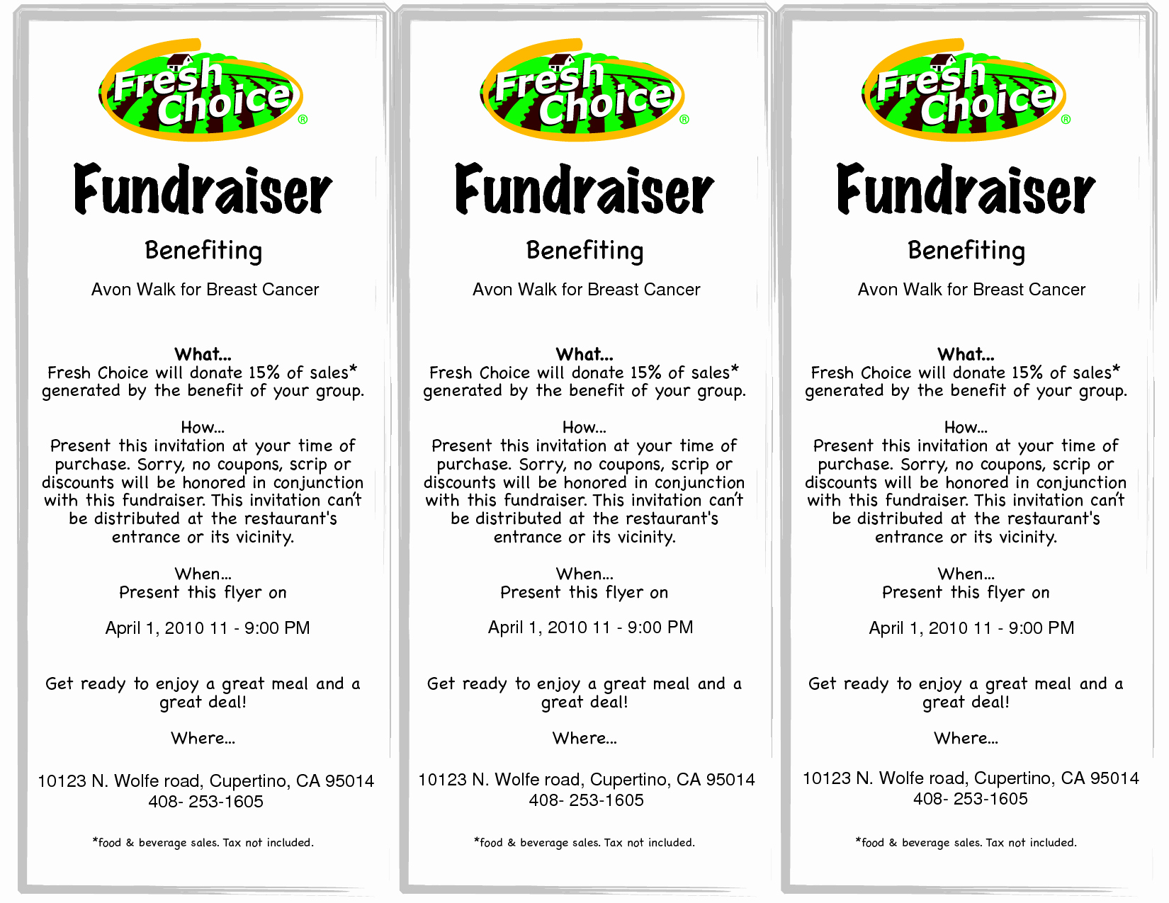 Fundraiser Ticket Template Free Fresh 9 Best Of Fundraiser Flyer Templates Free