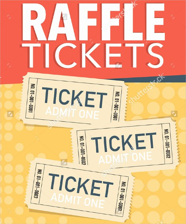 Fundraiser Ticket Template Free Inspirational Printable Raffle Ticket Template 18 Free Word Excel