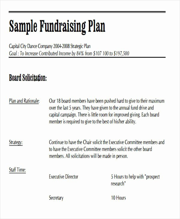 Fundraising Campaign Plan Template Awesome 19 event Plan Templates In Pdf