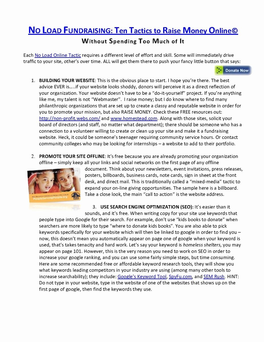 Fundraising Campaign Plan Template Awesome 9 Best Of Capital Campaign Proposal Template