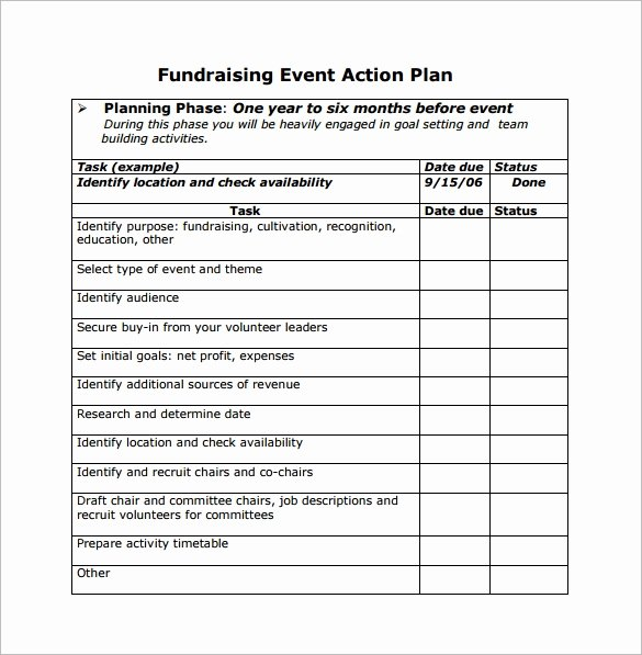 Fundraising Campaign Plan Template Beautiful event Planning Template 11 Free Documents In Word Pdf Ppt