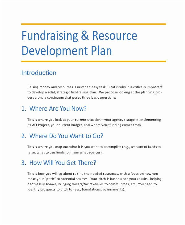 Fundraising Development Plan Template Best Of 6 Development Plan Samples & Templates