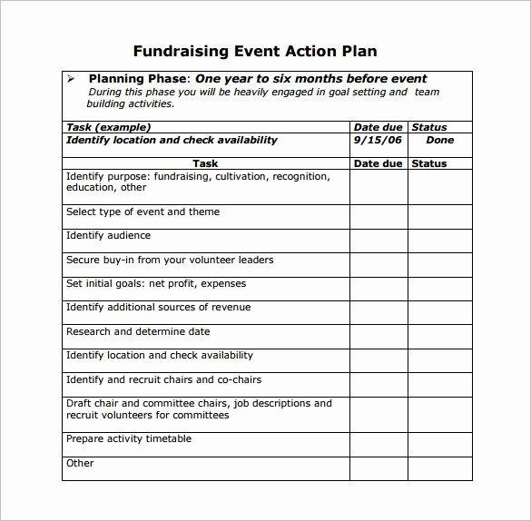 Fundraising event Planning Template Awesome event Planning Template 9 Free Word Pdf Documents