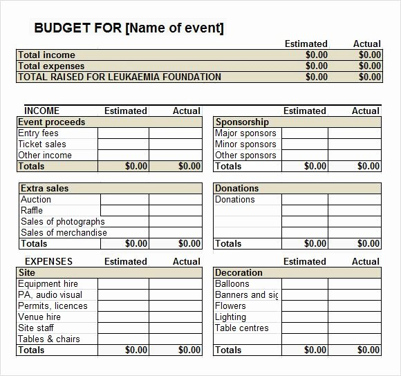 Fundraising event Planning Template Best Of Fundraiser event Bud Template Work It