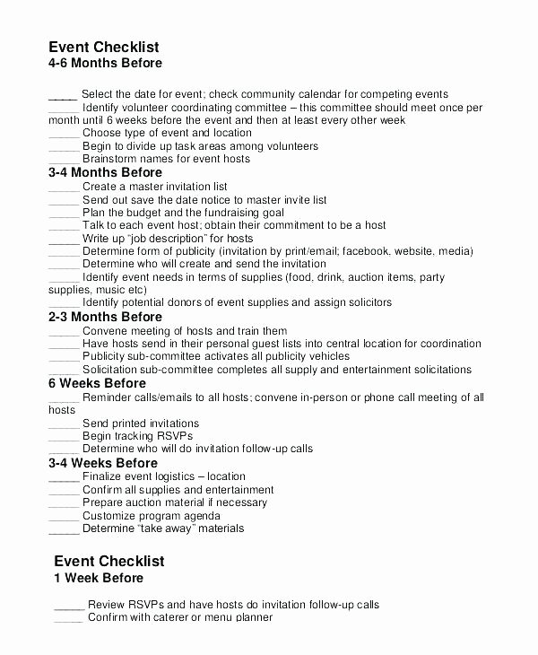 Fundraising event Planning Template Lovely Fundraising Timeline Template event Planning