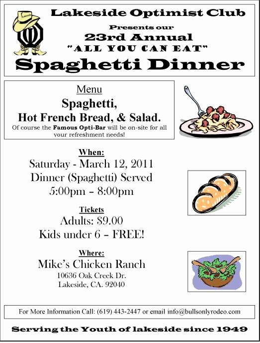Fundraising Ticket Template Free Awesome 29 Of Spaghetti Dinner Fundraiser Ticket Template