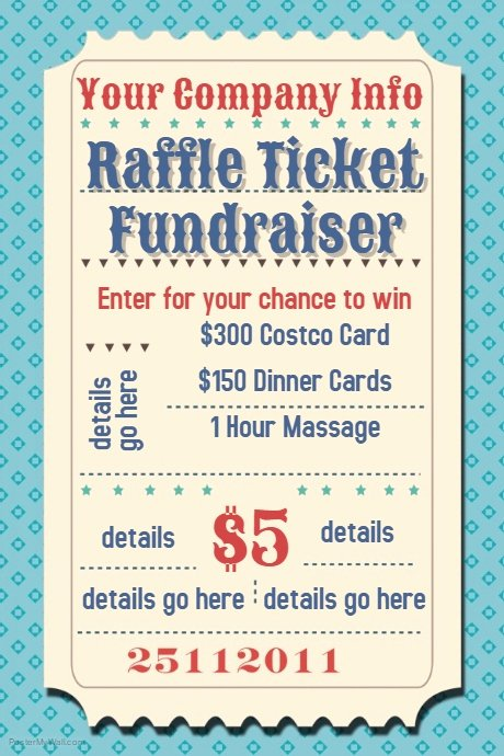 Fundraising Ticket Template Free Awesome Raffle Ticket Fundraiser Movie Party Flyer Poster Template