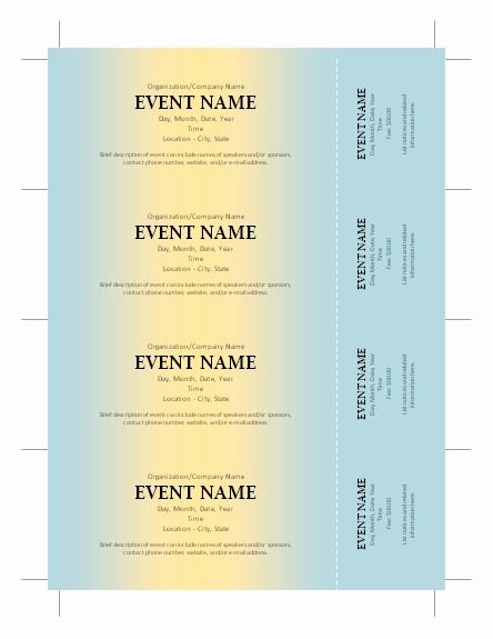 Fundraising Ticket Template Free Beautiful Free Ticket Template Silent Auction Pinterest