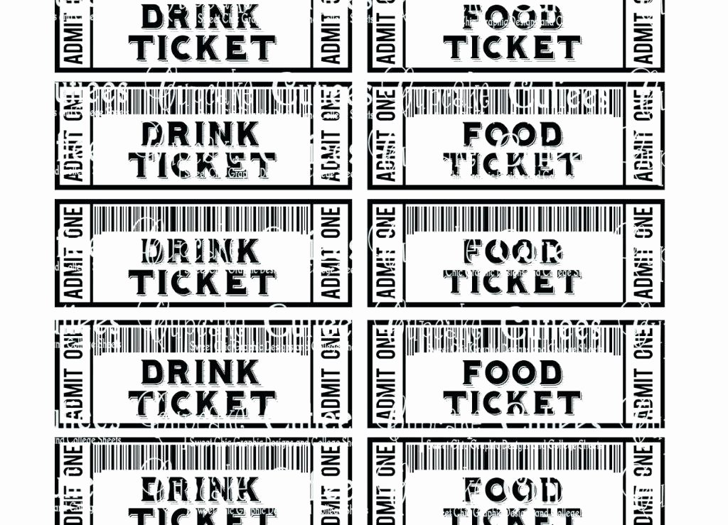 Fundraising Ticket Template Free Beautiful Fundraiser Ticket Template Free Fundraising Dinner Tickets
