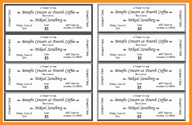 Fundraising Ticket Template Free Fresh Fundraising Ticket Template Entown Posters