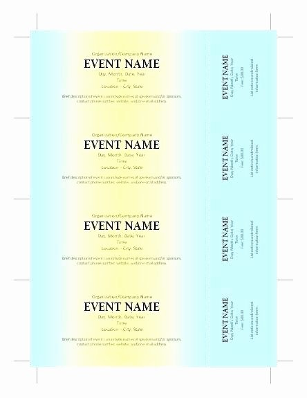 Fundraising Ticket Template Free New Fundraiser Ticket Template Free Download Word