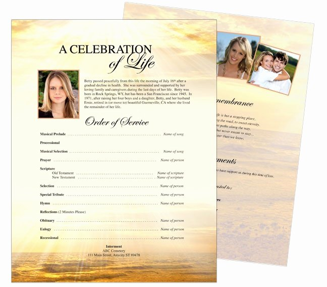 Funeral Brochure Template Free Awesome 10 Best Funeral Memorial Stationary Flyer Sheets Templates