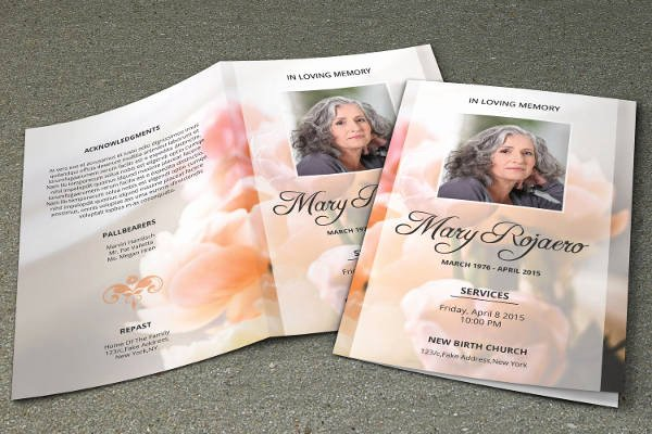 Funeral Brochure Template Free Awesome Funeral Program Template 23 Free Word Pdf Psd format