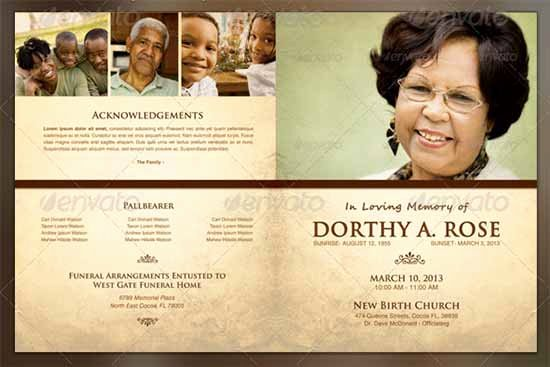 Funeral Brochure Template Free Best Of Funeral Program Template 30 Download Free Documents In