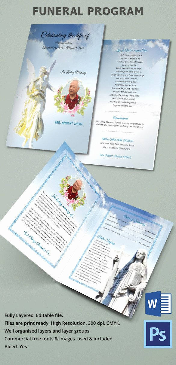 Funeral Brochure Template Free Inspirational 31 Funeral Program Templates – Free Word Pdf Psd