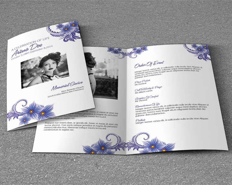 Funeral Brochure Template Free Lovely 37 Funeral Brochure Templates Free Word Psd Pdf Example