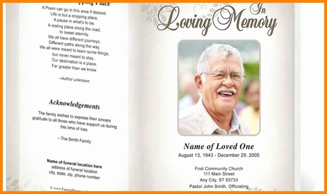 Funeral Brochure Template Free New 15 Funeral Service Template