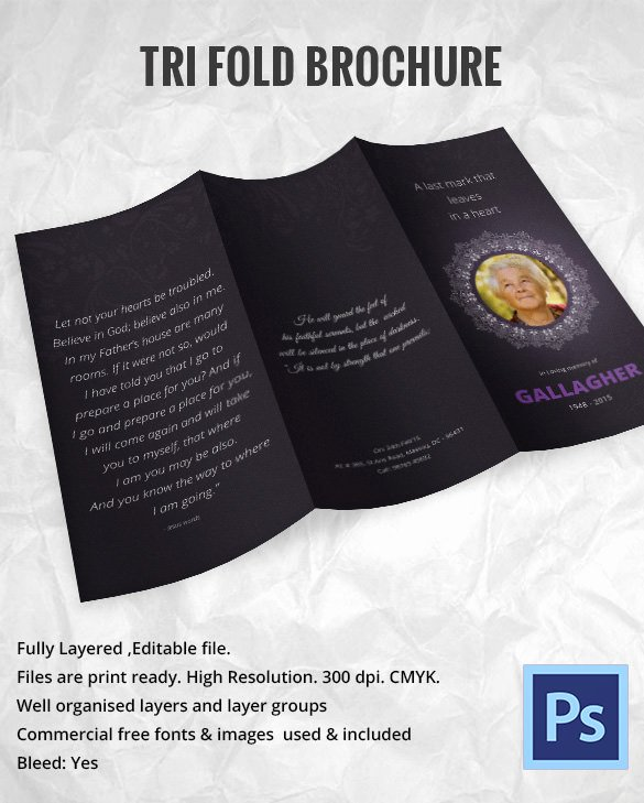 Funeral Brochure Template Free New 31 Funeral Program Templates – Free Word Pdf Psd