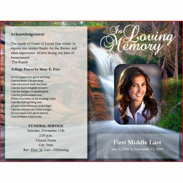 Funeral Brochure Template Free New Downloadable Funeral Bulletin Covers