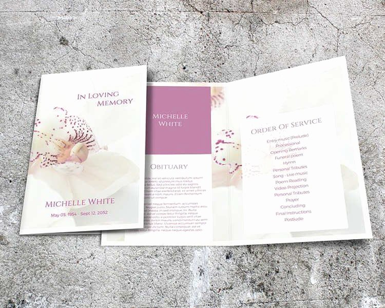 Funeral Brochure Template Free Unique 37 Funeral Brochure Templates Free Word Psd Pdf Example