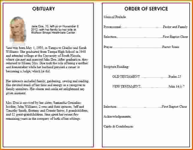 Funeral Service Outline Template Awesome 9 Memorial Service Program Template