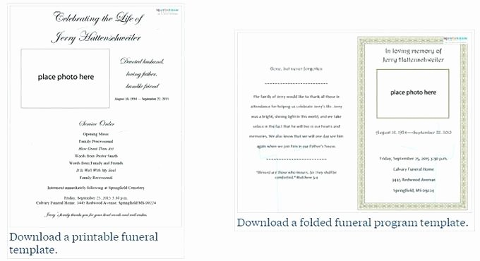 Funeral Service Outline Template Awesome Free Funeral Program Template Regarding Printable Bulletin