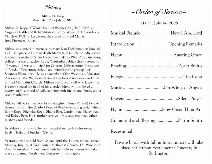 Funeral Service Outline Template Elegant 17 Best Ideas About Memorial Service Program On Pinterest