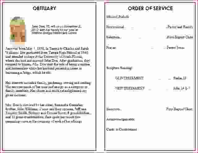 Funeral Service Outline Template Elegant Initial Sermon Service Program Related Keywords Initial