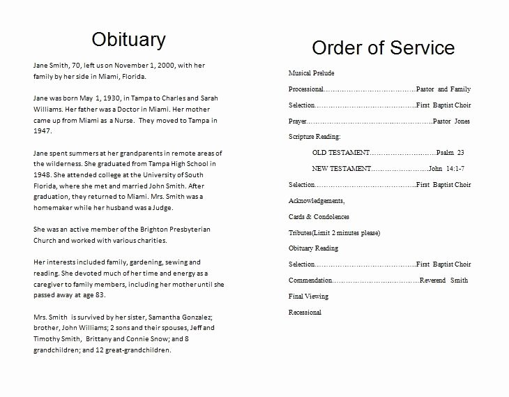 Funeral Service Outline Template Elegant the Funeral Memorial Program Blog How to Write A Funeral