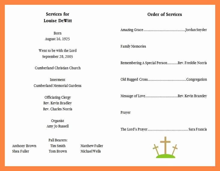 Funeral Service Outline Template Lovely 15 Funeral Services Outline