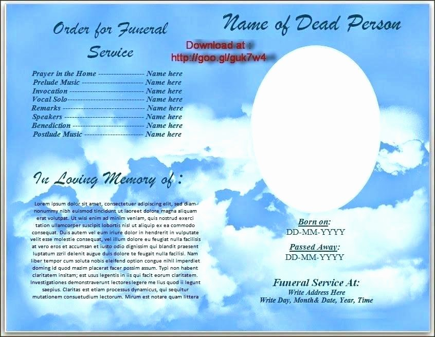 Funeral Service Outline Template Luxury Free Template for Funeral Program Funeral Free Printable