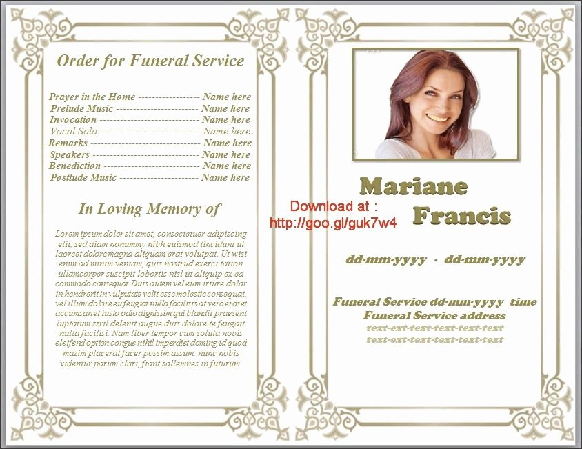 Funeral Service Outline Template Luxury Printable Funeral Program Templates On Pinterest