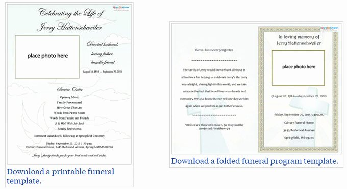 Funeral Service Outline Template New Free Editable Funeral Program Template