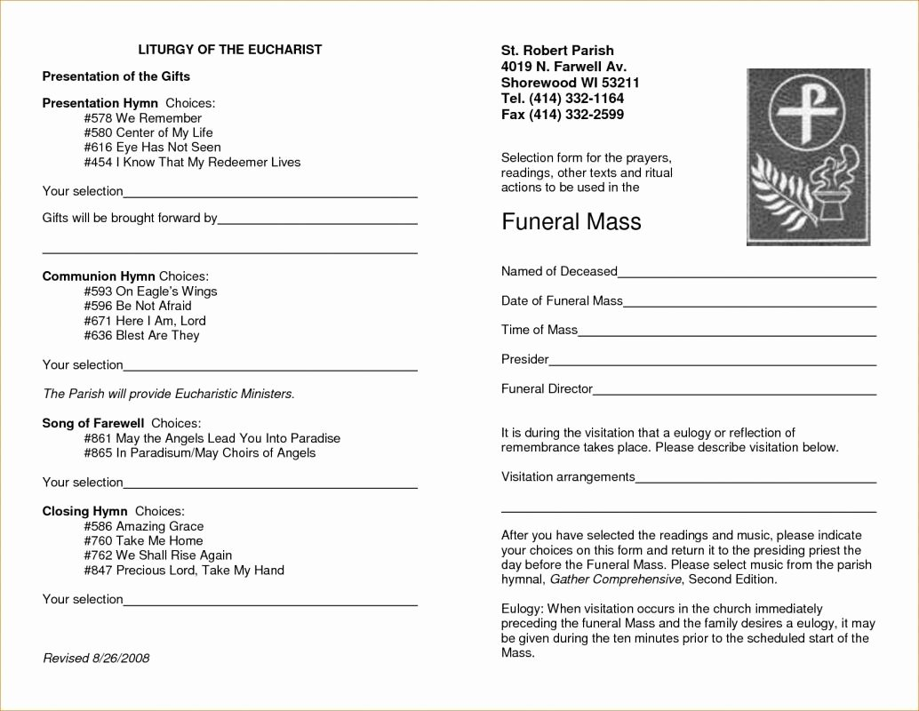 Funeral Service Outline Template Unique Free Memorial Service Program Template