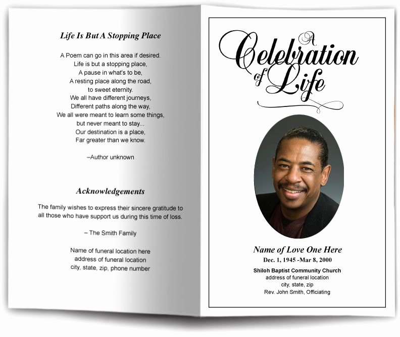 Funeral Service Outline Template Unique Funeral Program Obituary Templates