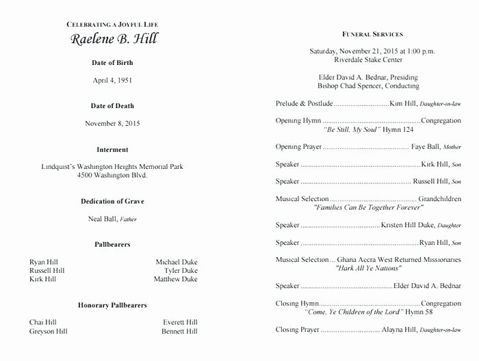 Funeral Service Outline Template Unique Funeral Program Outline Example aretha Franklin – Notions