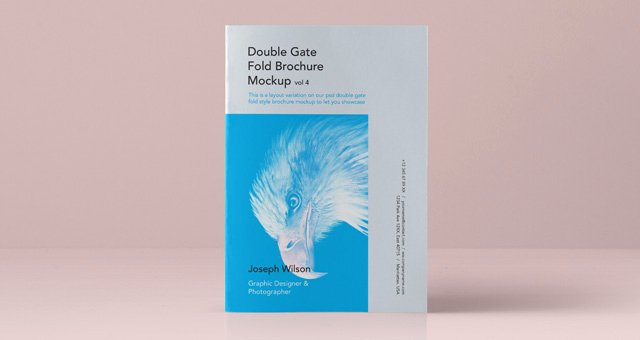 Gate Fold Brochure Template Beautiful Psd Double Gate Fold Brochure Vol4