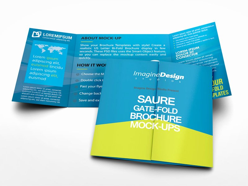 Gate Fold Brochure Template Best Of Square Gate Fold Brochure Mockup by Idesignstudio Dribbble