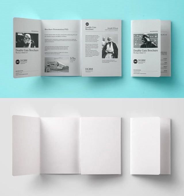 Gate Fold Brochure Template Fresh Double Gate Fold Brochure Mockup