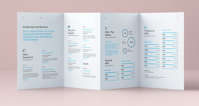 Gate Fold Brochure Template Fresh Psd Double Gate Fold Brochure Vol4
