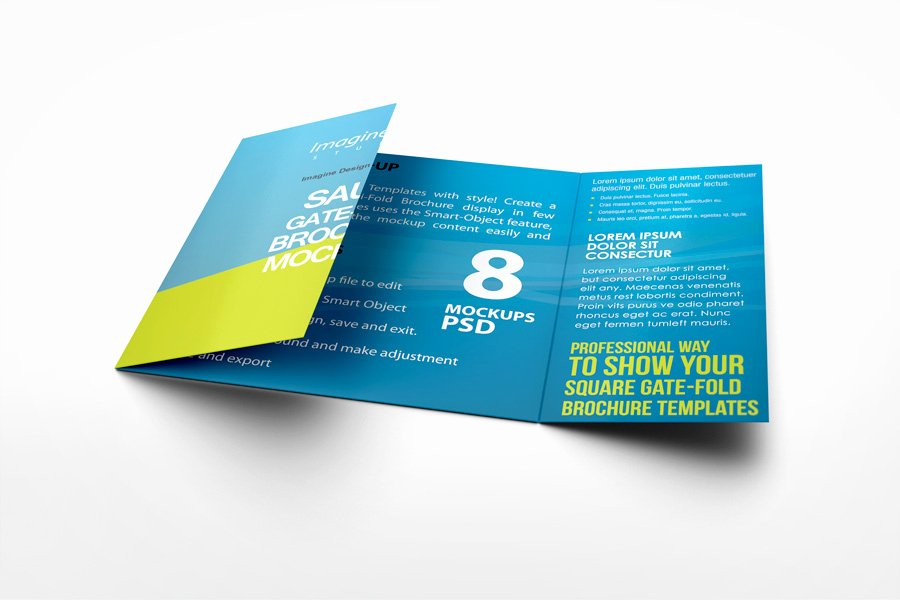 Gate Fold Brochure Template Fresh Square Gate Fold Brochure Mockup On Behance