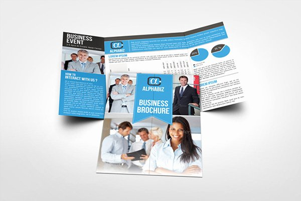 "Gate Fold Brochure Template Inspirational Business Brochure Gate Fold Template ""alphabiz"" On Behance"
