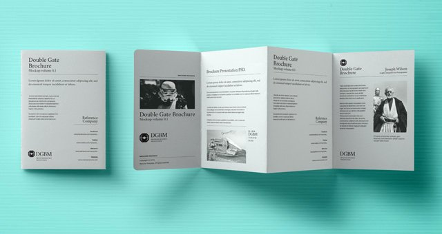 Gate Fold Brochure Template Lovely Psd Double Gate Fold Brochure Vol2