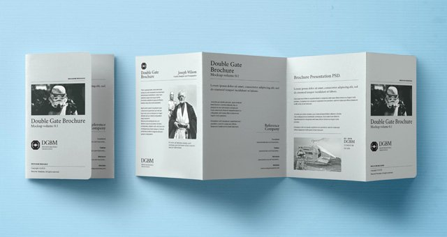 Gate Fold Brochure Template Luxury Psd Double Gate Fold Brochure