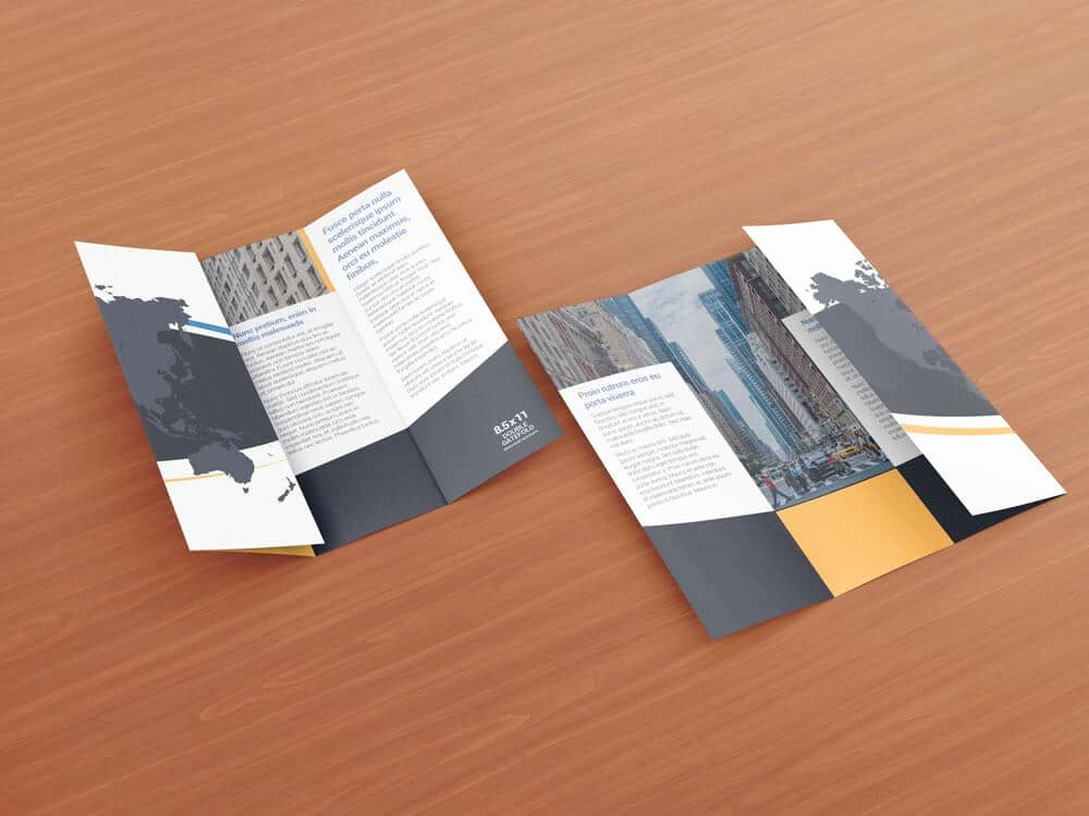 Gate Fold Brochure Template New 8 5 X 11 Double Gate Fold Brochure Mockups