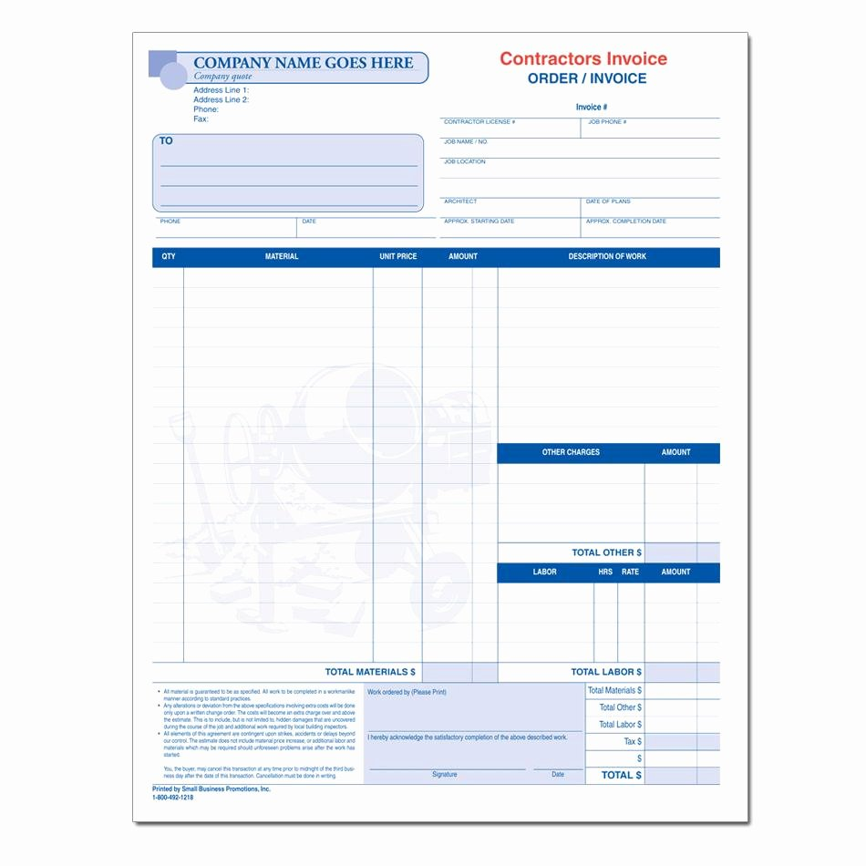 General Contractor Estimate Template Lovely Contractor Invoices Construction Invoice Custom