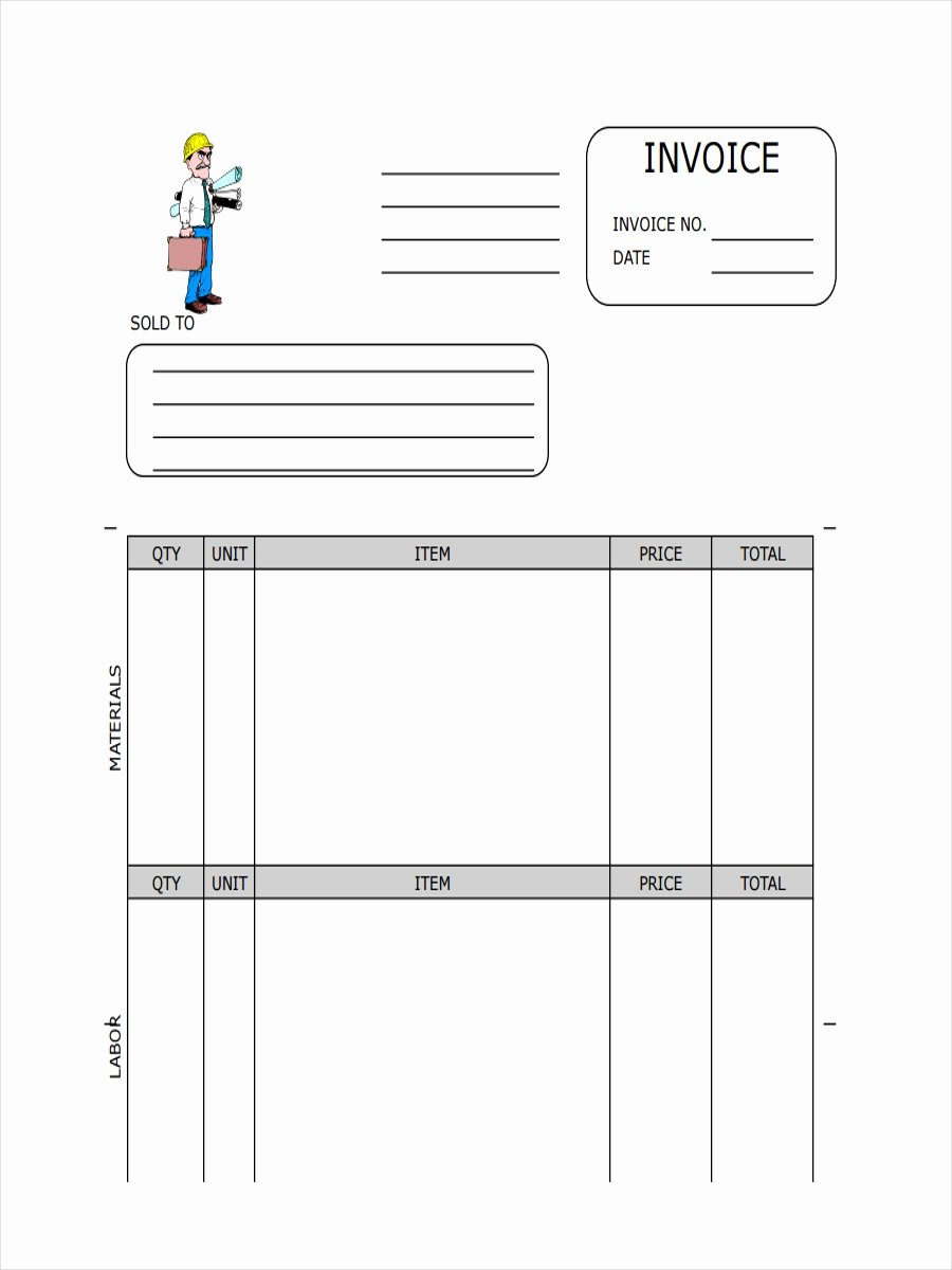 General Contractor Invoice Template Fresh 26 Free Receipt Examples & Samples
