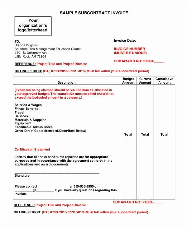 General Contractor Invoice Template New 10 Contractor Invoice Examples & Samples Pdf Word
